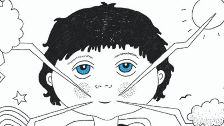 Piirroskuva lapsesta sanomassa omia mielipiteitään
