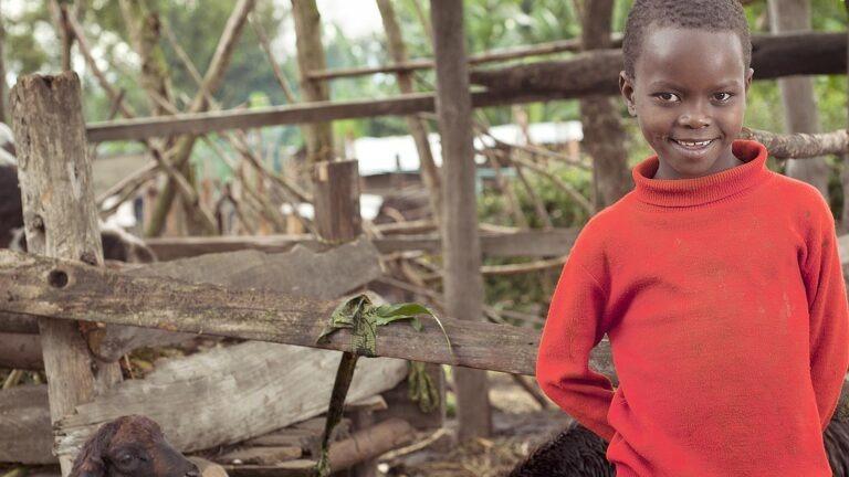 Tyttö Tansaniasta