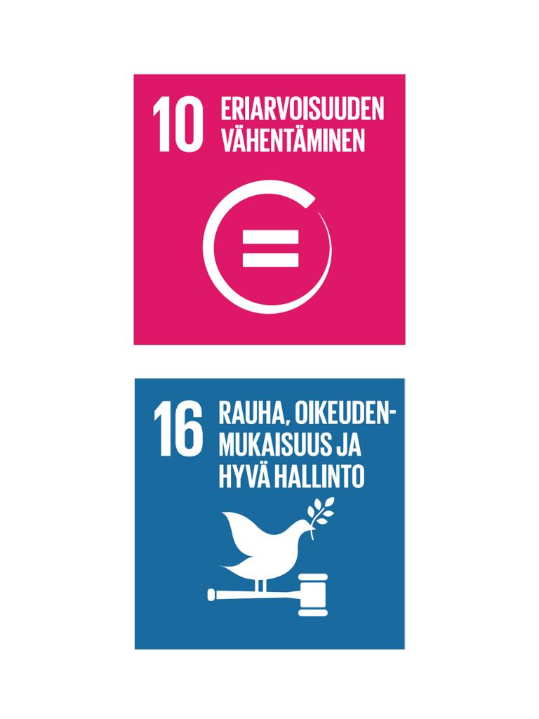 SDG 10 ja 16