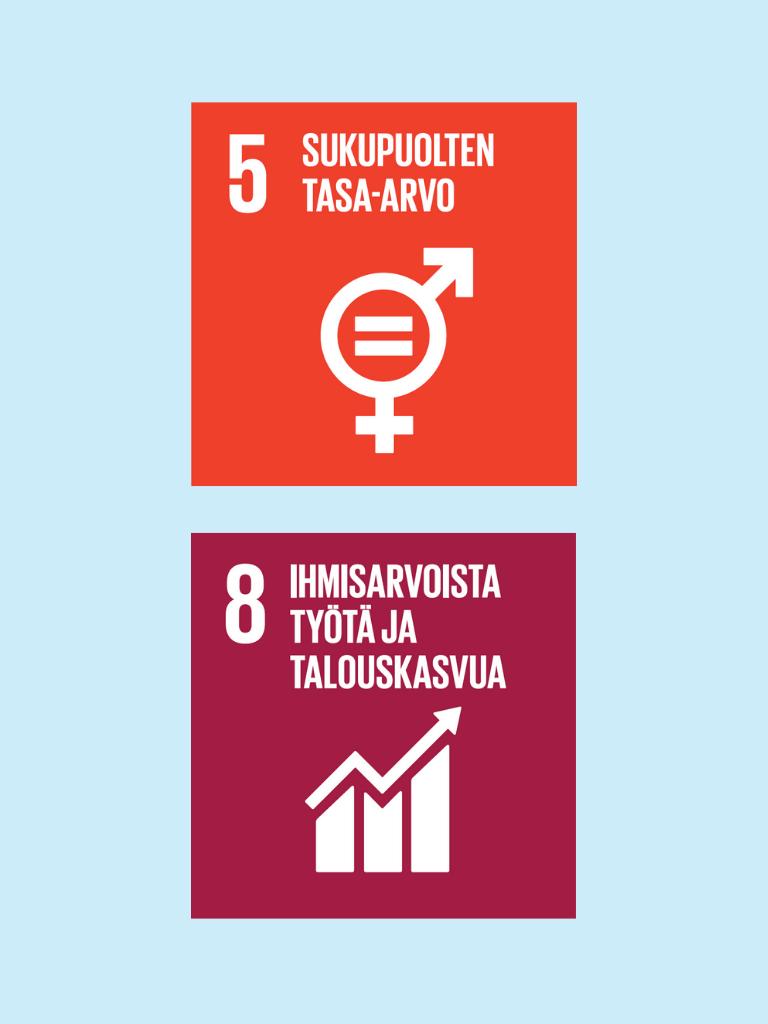 SDG 5 ja 8