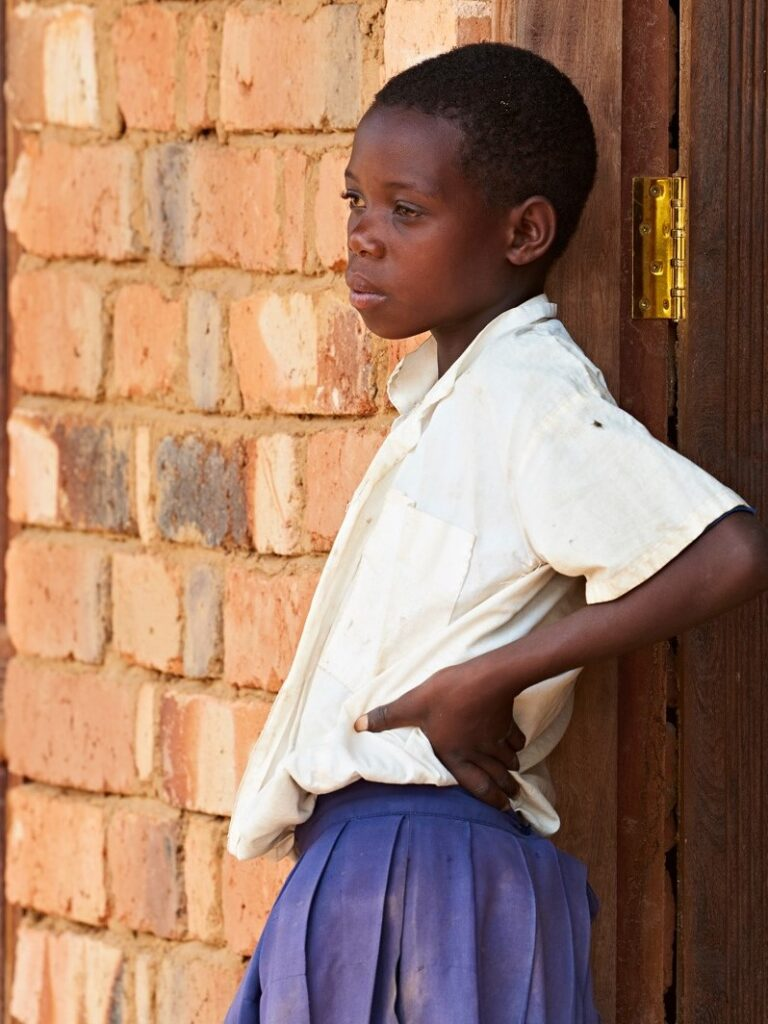 Nuori tyttö Tansania